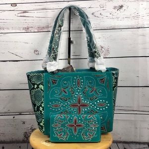 Montana West Embroidered Concealed Carry Tote NWT